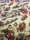 Beautiful OOP 1997 Alexander Henry Old World Drawing Santa Scenic Flannel Fabric