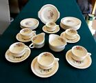 Vintage SHELLY Dishes with by Royal China with 22K Gold Rings and Red Roses