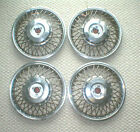 factory 1986 1989 CELEBRITY PONTIAC 6000 Wire Wheel 14 HubCaps with lock1987