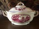 Vintage English Wedgewood Bewick Decorated Covered Serving Dish with Lid