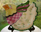 Fitz & Floyd Gypsy Chicks Chicken Canape Sandwich Snack Collector Dish Plate