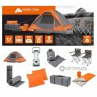 Camping Equipment Family Cabin Set 4 Person Tent Sleeping Bag Chairs Hiking Gear