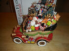 Fitz & Floyd Musical Santa Mobile Wish You a Merry Christmas w/Box lot 3