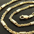 FSA211 GENUINE 18K YELLOW G/F GOLD SOLID ANTIQUE STYLE PENDANT NECKLACE CHAIN