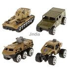 4pcs 1:64 Scale Diecast Army Military Tank Truck Model Cars Collectibles