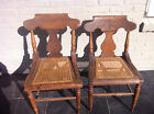2 Country Empire Chairs w Cane Bottom Seats