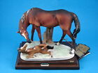 Large Mother & Baby Horses Figurine From Italy by Capodimonte & Guiseppe Armani