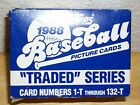 1988 TOPPS TRADED BASEBALL COMPLETE SET 132 CARDS