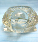 Turtle Sparkling Clear Pressed Glass Votive Candle Holder 1970's Avon #23