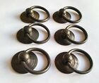 6 Rustic Antique Style Brass Round Rng Pull Handles 1