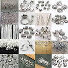 Multiple Silver Plated Chains Hook Pin Jump Rings Clasp Jewelry Making Tools DIY