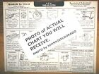 1933 1934  Franklin SIX Series 18, Olympic AEA Tune Up Chart LAST ONE!