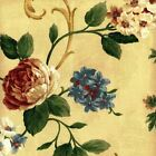 Waverly MARDI GRAS VINE CHAMPAGNE Jacquard Floral Drapery Upholstery Fabric