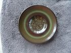 Franciscan Madeira Green Band Rim Brown Trim Floral Center Brown Saucer LKB