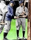 BS654 HONUS WAGNER & TY COBB Chat Tigers Baseball 8x10 11x14 Colorized Photo