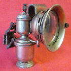 VINTAGE FRENCH CICCA CARBIDE BICYCLE LAMP BIKE LIGHT COMPLETE w RED REFLECTOR