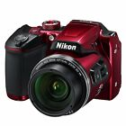 Nikon COOLPIX B500 Digital Camera w 3Display 16MP 40x Optical Zoom Red