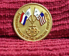 DAR Daughters Of The American Revolution European Trails Gold Pin Lot32