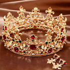 2016 Bridal Wedding Jewelry Women Vintage Baroque Crown Tiara Headpiece Crystal