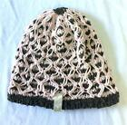 Roxy Out Of Bounds Snowboard Snow Beanie Brown Pink Knit NEW