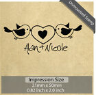 Unmounted Personalized Custom Made Wedding Names Love Birds Rubber Stamp RE692