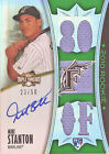 2010 Topps Triple Threads Giancarlo Mike Stanton Auto Triple Patch Rookie #23 50