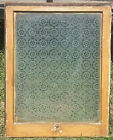 Antique Snowflake Glass Frosted Window Old Shabby Cottage Chic Vtg 965 16