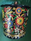 Vintage/antique raised floral pattern decorative tin - Made In Holland