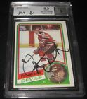 1984-85 Topps Pat Verbeek Signed Rookie Card BGS 6.5 JSA 9 Auto RC Whalers