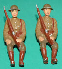 70mm British Soldier Sitting Passenger Lead Soldier painted Lot of 2