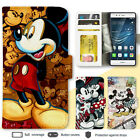 Huawei P9 Nexus 6P 5X Disney Mickey Print Wallet Leather Cover Case for Google