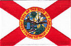 FLORIDA STATE FLAG Iron On Embroidered Patch Flag of Florida