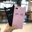 Cute 3D Black MEOW Party Cat Kitty Soft and Protective Silicone iPhone Case