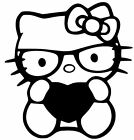 HELLO KITTY HEART Truck Car Vinyl Decal Window Sticker for 7 COLORS