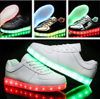 New Boys Girls LED Light up Lace Up Luminous Sneakers Kids Casual Shoes BZ45