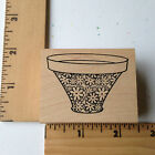 Rare Outlines Rubber Stamps Ornate Bowl NEW