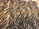 Tiger stripes print fleece fabric 60 wide sold BTY