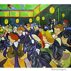 Wooden Jigsaw Puzzles 500 PCS The Dance Hall in Arles by Vincent van Gogh Gift