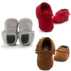 Suede Leather Soft Baby Girls Boy Toddler Infant Tassel Moccasin Shoes 0 18Month