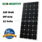 160W 160 Watt 12V Mono Solar Panel Battery Charger for Off Grid RV Boat Camping
