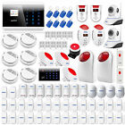 DIY LCD Touch Keypad GSM SMS office Home House Alarm System Security Burglar kit