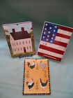 Lot of 3 Warren Kimble Tile Trivets Colonial, Country Life, Country Quartet