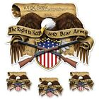 Right To Bear Arms Sticker For Motorcycle Windshield Fairing Decal Lethal Threat