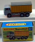 DTE LESNEY MATCHBOX TRANSITIONAL SUPERFAST 47-A DAF TIPPER CONTAINER TRUCK NIOB