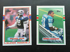 1989 TOPPS & TOPPS TRADED COMPLETE FOOTBALL SET IN BINDER 528 CARDS TOTAL ROOKIE