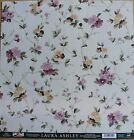 2 LAURA ASHLEY BURGUNDY COLLECTION PRIORY FLOWERS 12X12 SCRAPBOOK PAPER