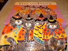 FITZ AN FLOYD FF KITTY WITCHES TRAY HALLOWEEN LARGE TRAY 17 X12 BLACKS CATS BATS
