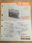 Original Sony Service Manual for the CF-200A Cassette-Corder Radio