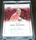2013-14 NATIONAL TREASURES GOLD PROOF RAY ALLEN AUTO 25 25 LIKE 1 1