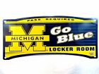 MICHIGAN WOLVERINES Locker Room Sign 19 x 8